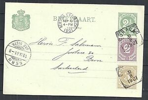 Curacao covers 1901 uprated PC to Bern ATTRACTIVE!