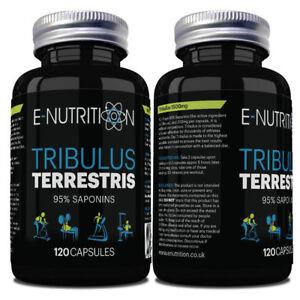 100-reines-Tribulus-Terrestris-120-Kapseln-95-Saponine-leistungsstarke-Test-Boost