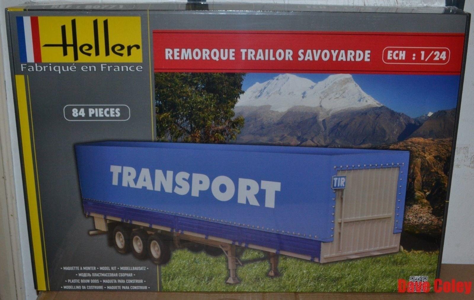 Heller 80771 1 24th scale Tri Axle Trailer Remorque Savoyarde
