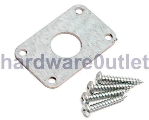 Hole 18mm Dia Drop Bolt Tower Bolt Security Bar Galv Flat Plate Socket 55x35