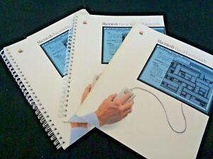 Rare-Vintage-3-Lot-Apple-Computer-Macintosh-Mac-User-039-s-Guide-Manual-1984-PASCAL