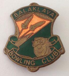 Balaklava-Bowling-Club-Badge-Pin-Lawn-Bowls-Vintage-K2