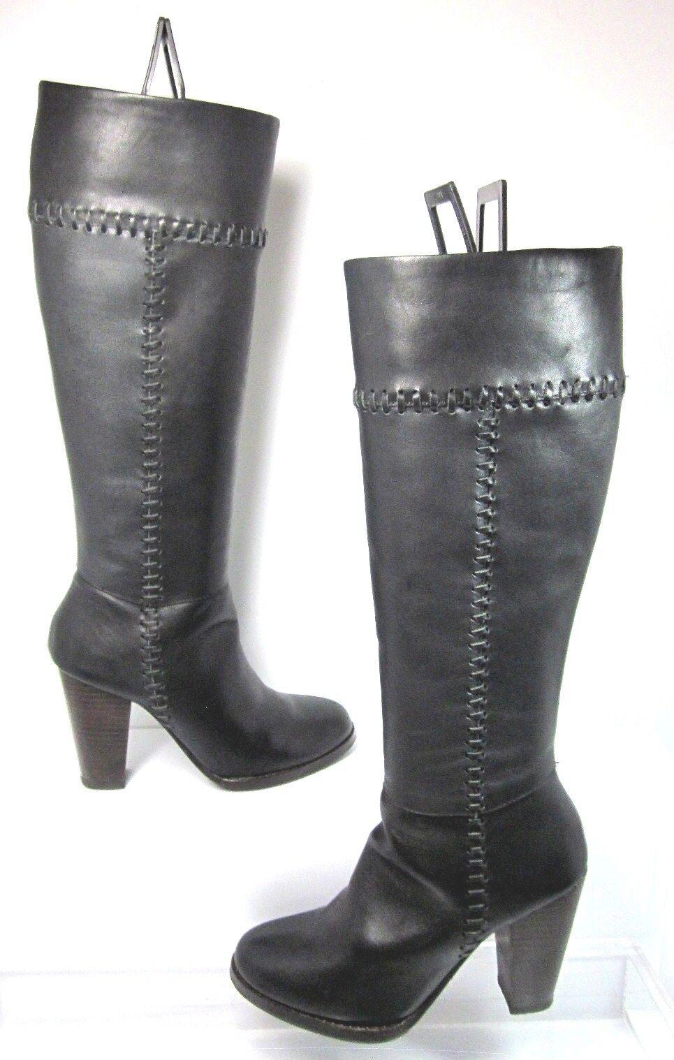 a buon mercato Joie Allman Knee High avvio nero Stitch Leather Side Side Side Zip Dimensione 35 Mint Condition  divertiti con uno sconto del 30-50%
