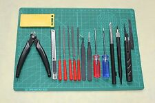 Basic Model Kit Tool Set Ⅴ : 16 Modeling Craft Tools Tweezers,Side Cutter,Knife