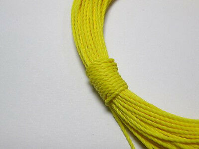 50 Meters Yellow Waxed Polyester Twisted Cord String Thread Line 1mm