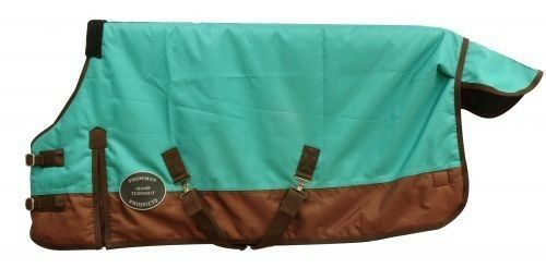 Showman TEAL PONY YEARLING 42 -46   Waterproof 1200 Denier Turnout SHEET   NEW    low price