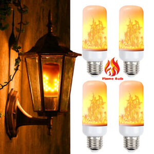 LED Flame Light Bulb Simulated Burn Fire Effect Party Decor Flicker Lamp E27 Lot