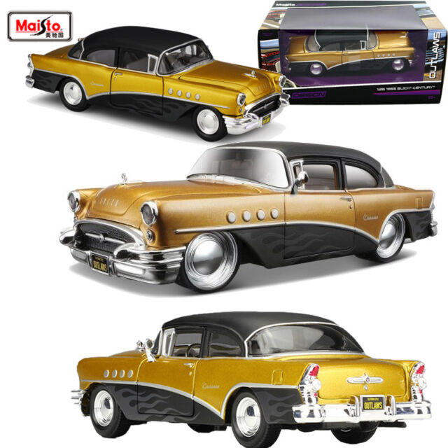 1:26 Maisto Design Outlaws 1955 Buick Century Diecast Model Car Vehicle Toy Gift