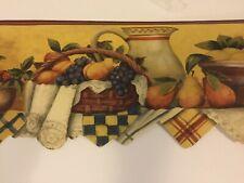 Vintage Cambridge Studios Farm//Kitchen Wallpaper Border STB25036 5 yds x 5.8 in.