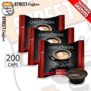 200-Capsule-Caffe-Borbone-Don-Carlo-Miscela-Rossa-compatibili-a-Modo-Mio-gratis