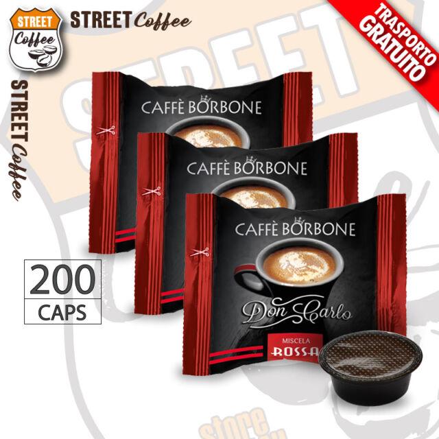 200 Capsule Caffè Borbone Don Carlo Miscela Rossa compatibili a Modo Mio gratis