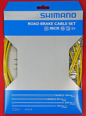 Shimano PTFE SIL-TEC Road Bike Brake Cable Housing Set Orange