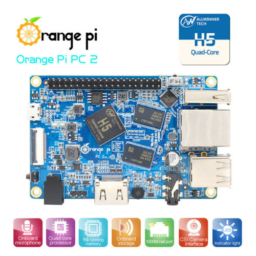 Orange Pi PC 2 H5 Quad Core 64bit Support Ubuntu Linux Android Mini PC 5.0  New