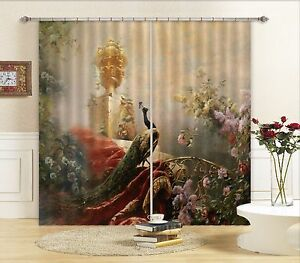 3d Peacock 500 Blockout Photo Curtain Printing Curtains Drapes