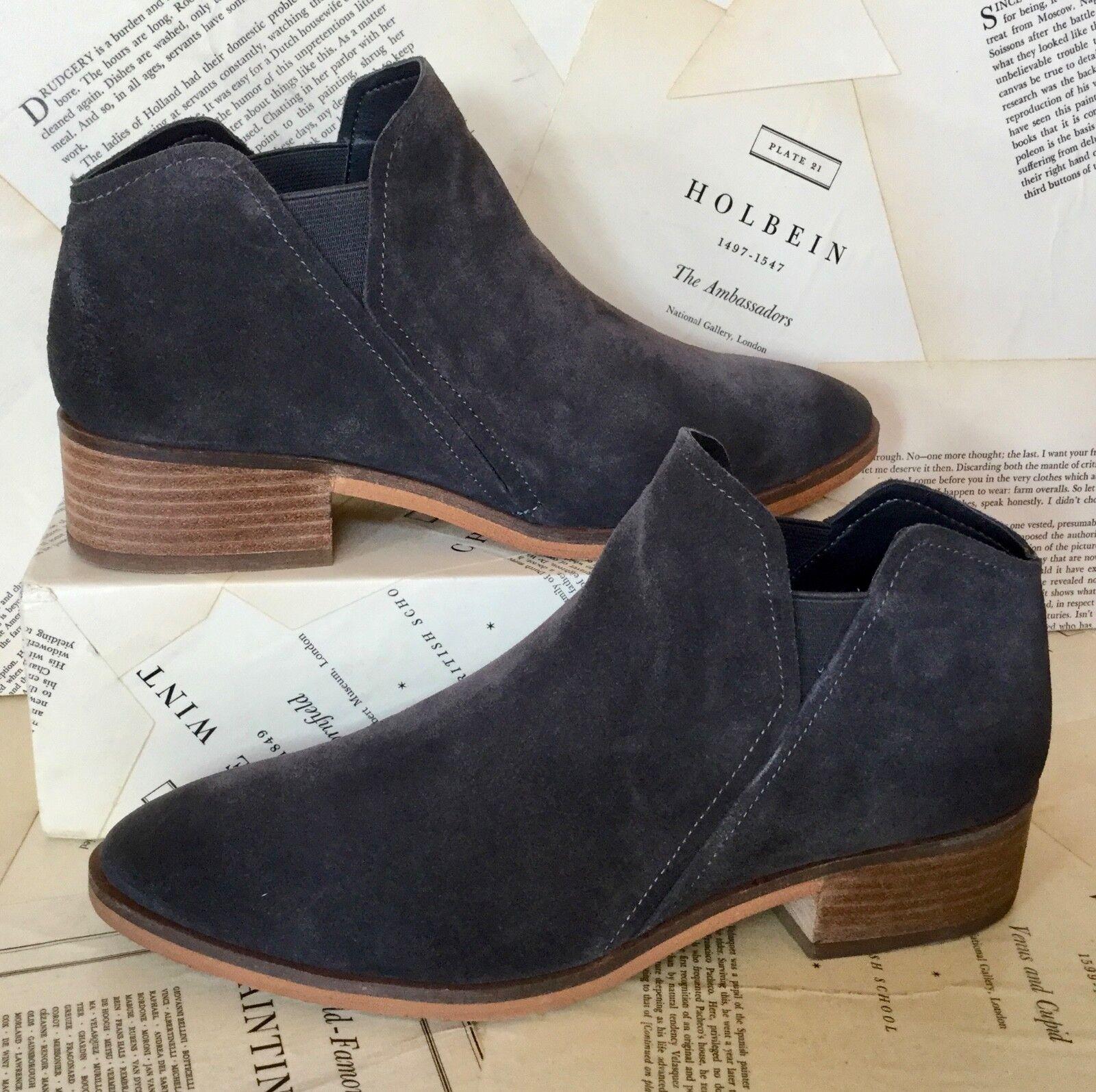 NIB Anthropologie Dolce Vita dark gray Suede On Chelsea Slip On Suede Bootie Stiefel 9.5 0e8ee4