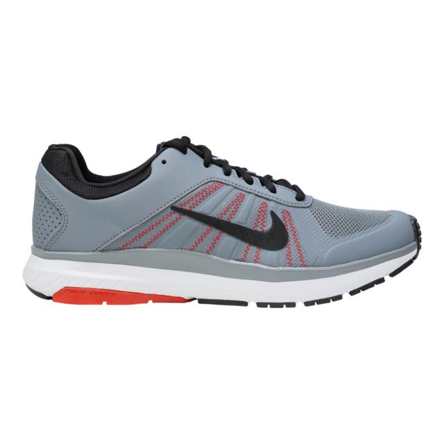 Nike Men's Dart 12 MSL Running Shoes Cool Grey/Black/Red 8.5