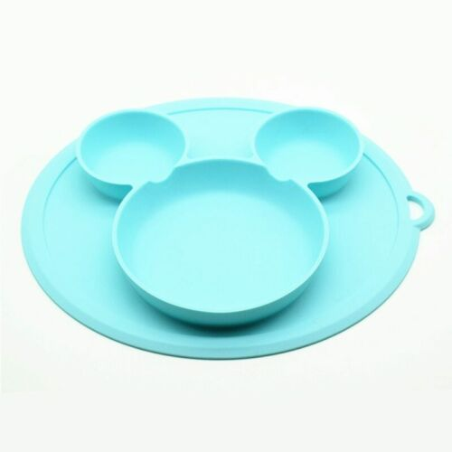 Baby Silicone Dining Plate Children Smile Face Silicone Material Plate Health