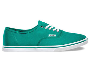 5d13914e9a3 VANS Authentic Lo Pro Alhambra True White Green Casual Shoes WOMEN S ...