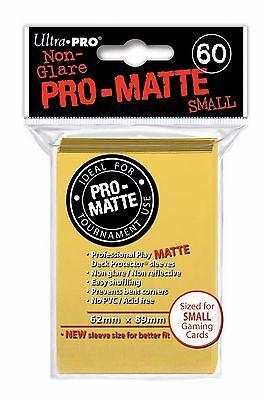 PRO MATTE SMALL Yellow Giallo Buste 60 Bustine Protettive Ultra PRO Yu-Gi-Oh