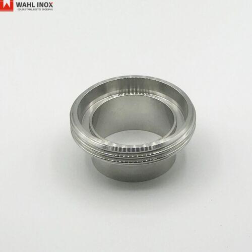 Gewindestutzen Milchrohr 1.4301 DIN11851 Edelstahl V2A poliert