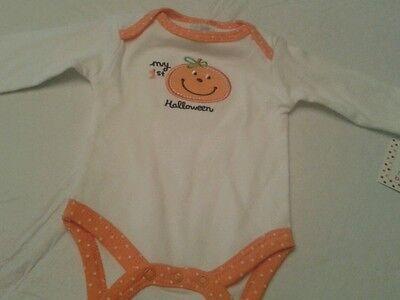 Fall Baby Girl Outfit Halloween Baby Girl Little Pumpkin Bodysuit Pumpkin Bodysuit Girls First Halloween Bodysuit 6-12 month premade