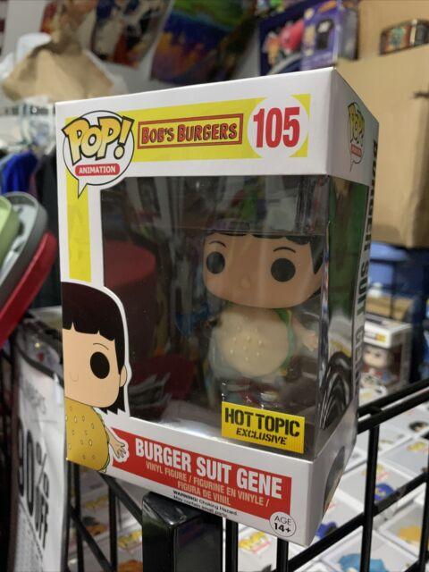 Exclusive Bob/'s Burgers Burger Suit Gene Funko Pop Vinyl New in Box Protector