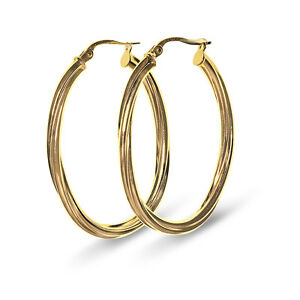 9-CT-Yellow-Gold-Large-Creole-Hoop-Twist-Design-Earrings-00255