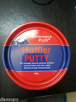 """POWER PLUS MUFFLER PUTTY FIX EXHAUST SYSTEMS """"SETS LIKE A WELD"""" 200GM TUB PP277"""