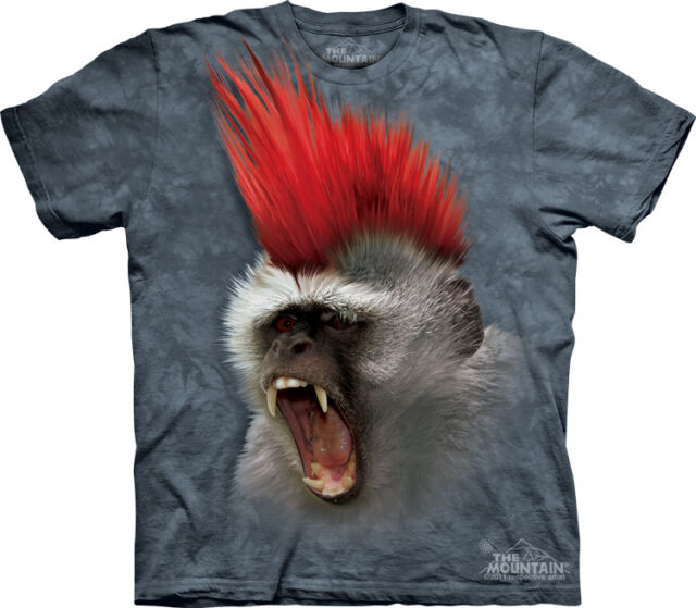 T-shirt adulte singe punk 3D super qualité made in USA the mountain