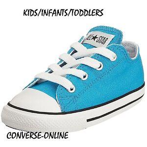8affec406f5d KIDS Babies Boy s Girls CONVERSE All Star VIVID BLUE Trainers Shoes ...