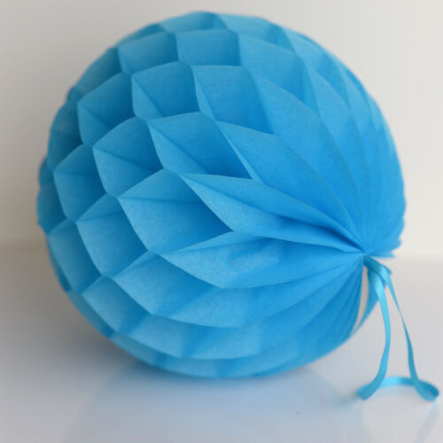 Turquoise color tissue paper Honeycomb balls wedding party decorations