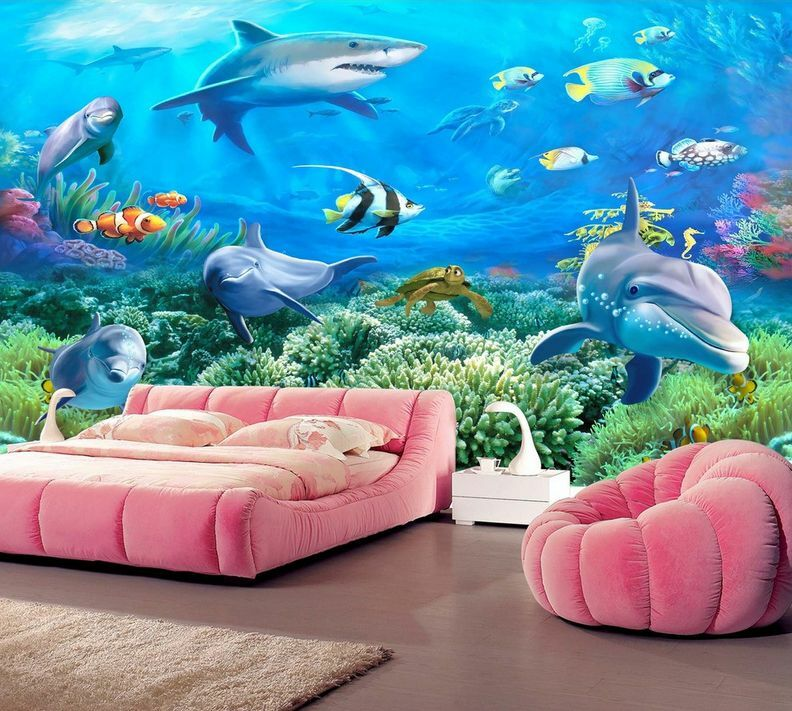 3D Swimming Fishes And Corals 38 Wall Paper Wall Print Decal Wall AJ Wall Paper