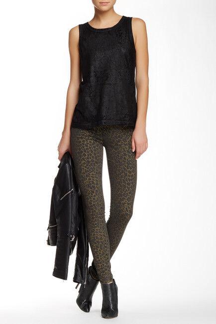 Current Elliott The Ankle Legging Skinny Jeans Street Leopard Women's SZ 23  208