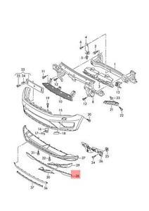 Details about Genuine Satin black spoiler VW Touareg 7P6 7P6807110B9B9