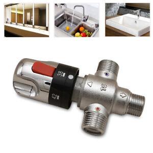3 Wege Thermostatischer Mischventil Brauchwassermischer  Kalt//Warm Wasser Ventil