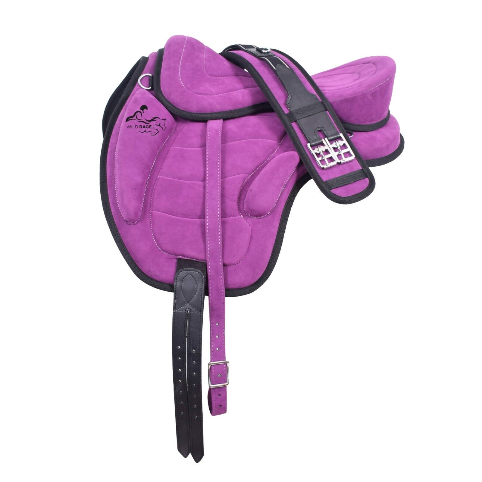 All Purpose Treeless Freemax Purple Fully Suede Saddles (Size 12  to 18 )