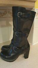 ExCon Dr Martens BELLISSA Leather MidCalf High Heel Zip Boots UK6 / Eu39 / US8L