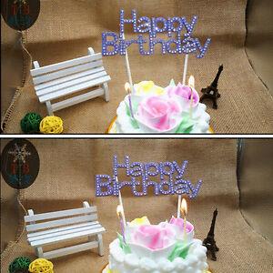 Happy-Birthday-Party-Cake-Topper-Sign-Diamonte-Crystal-Rhinestone-Decorating-CXF