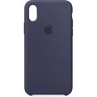 Apple iPhone X MQT32ZM/A Custodia in Silicone - Midnight Blue