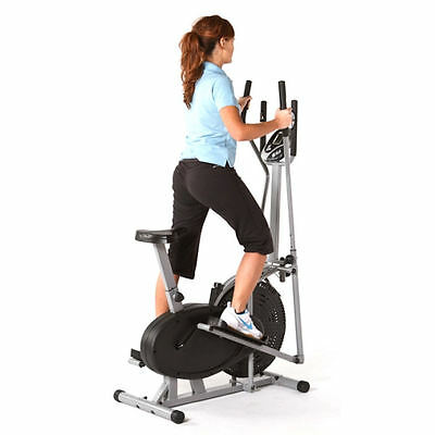 NEW FITNESS PRO 2-IN-1 ELLIPTICAL CROSS TRAINER & EXERCISE BIKE GYM CARDIO