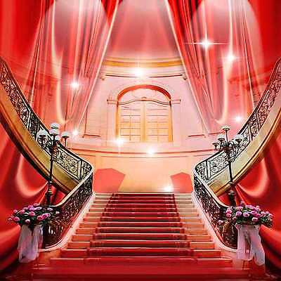 Beautiful stairs 10'x10' CP Backdrop Computer printed Scenic Background zjz-466