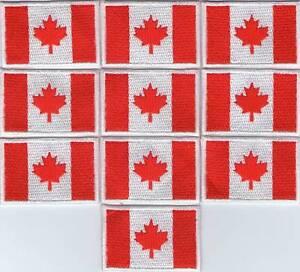 LOT-10-ECUSSON-PATCHE-THERMOCOLLANT-DRAPEAU-CANADA-DIMENSIONS-4-5-X-3-CM