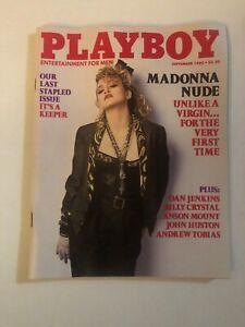 Playboy Magazine September 1985, MADONNA Nude, Last