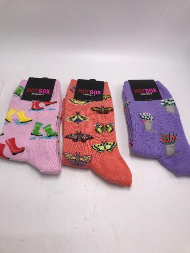 $18 Women/'s hot socks set of three butterflies flowers rain boots s12