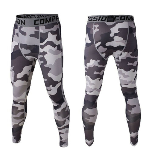 Men Thermal Compression Breathable Base Layer Pants Long Sport Leggings Trousers