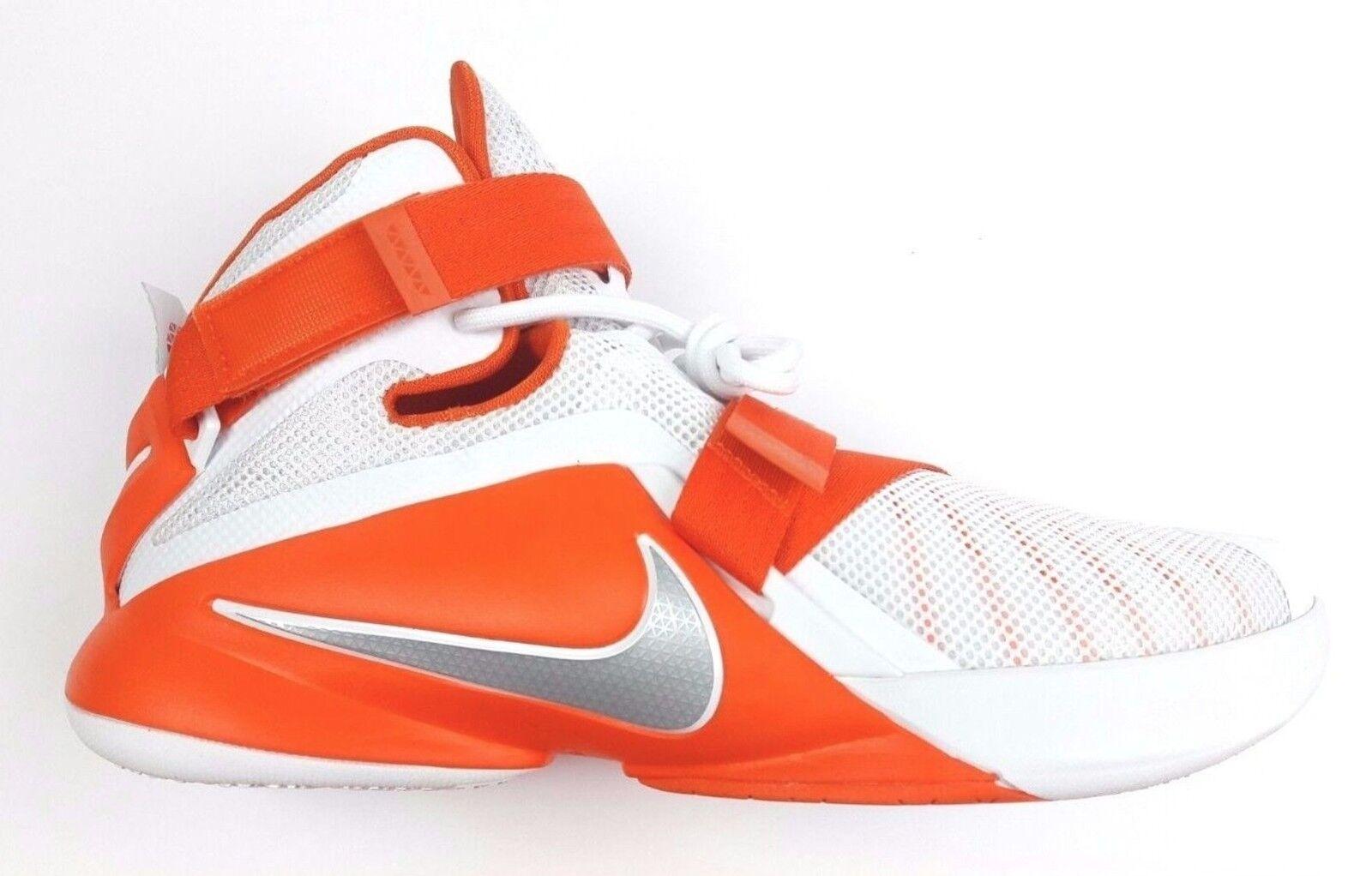 Nike Lebron Soldier IX 9 White Orange 813264-108 Men's Sz 17 NEW