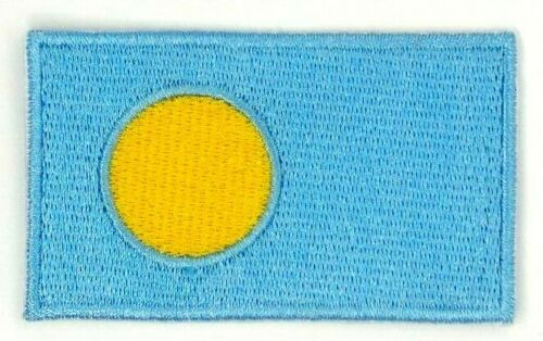 us seller small Flag of Palau  sew or Iron On Patch 1631