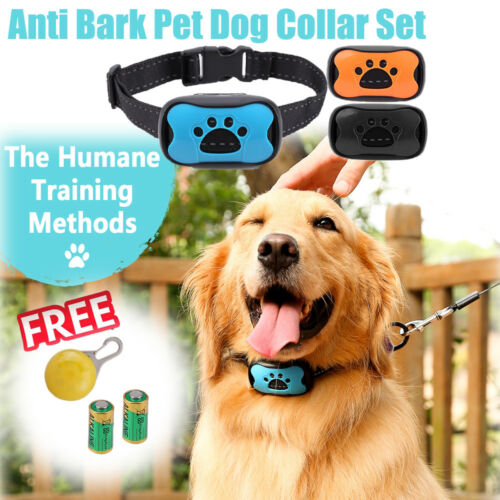 No Shock Dog Anti Bark Collar Pet Train Waterproof Sound Vibration Stop Barking