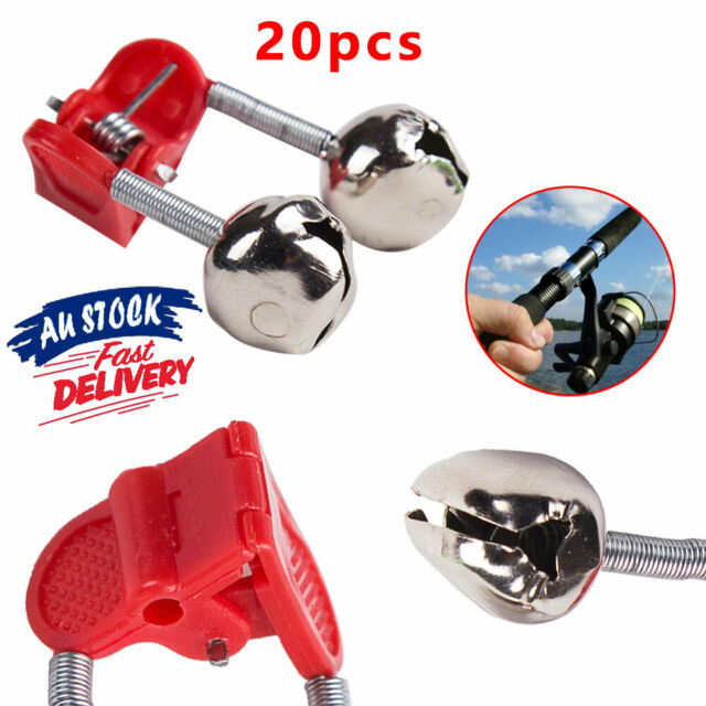 20X Best Bite Red Ty Fishing Alarm Bells  M Ring Rod Plastic Double Hot Clip