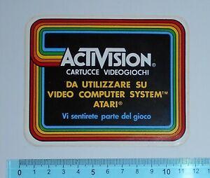 VINTAGE-ADESIVO-STICKER-AUTOCOLLANT-ACTIVISION-VIDEOGIOCHI-ANNI-039-80-11x9-cm